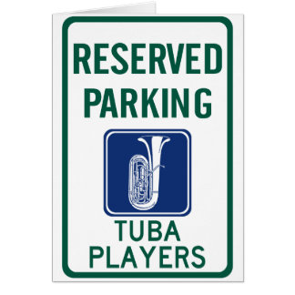 Tuba Players Parking Greeting Card