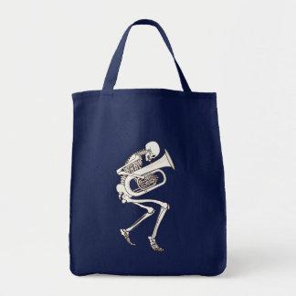 Tuba Playing Skeleton Tote Bag