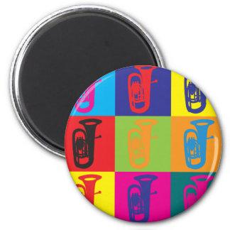 Tuba Pop Art Refrigerator Magnet