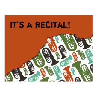 Tuba Recital Invitation Post Cards