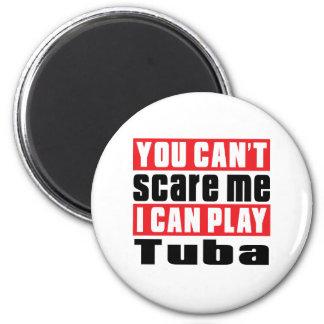 Tuba Scare Designs 6 Cm Round Magnet