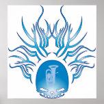 Tuba Skull Poster