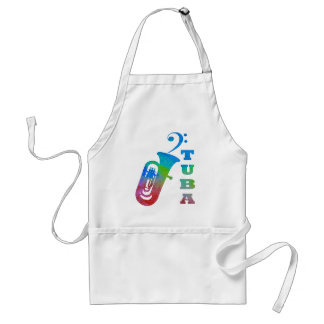 Tuba with Bass Clef Standard Apron