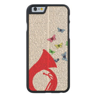 Tuba with Butterflies Carved Maple iPhone 6 Case