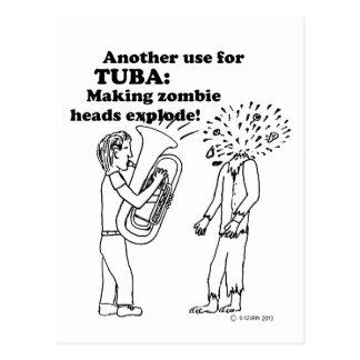 Tuba Zombie Explode Postcards