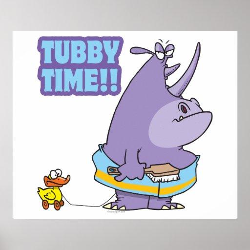 tubby time unhappy rhino cartoon posters