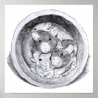Tube Rats Print
