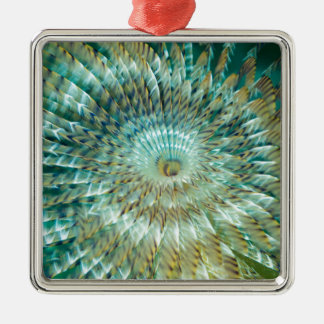 Tube Worm Silver-Colored Square Decoration