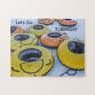 Tubes for Snow Tubing - Winter Fun Jigsaw Puzzle