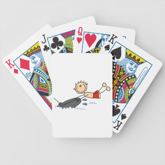 Tubing Stick Figure Bicycle Playing Cards