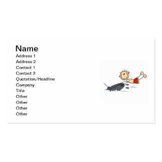Tubing Stick Figure Pack Of Standard Business Cards