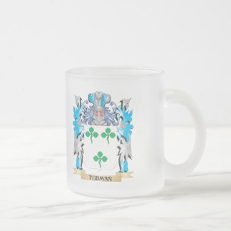 Tubman Coat of Arms - Family Crest Frosted Glass Mug
