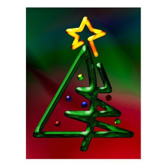 Tubular Chrome Christmas Tree Postcard