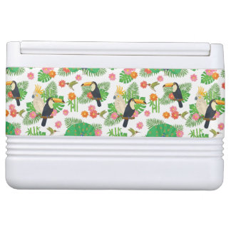 Tucan And Peacock Pattern Igloo Cool Box