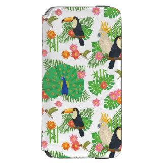 Tucan And Peacock Pattern Incipio Watson™ iPhone 6 Wallet Case