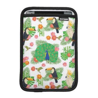 Tucan And Peacock Pattern iPad Mini Sleeve