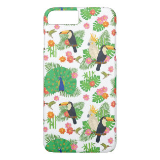 Tucan And Peacock Pattern iPhone 8 Plus/7 Plus Case