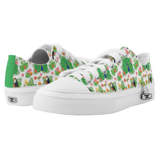 Tucan And Peacock Pattern Low Tops