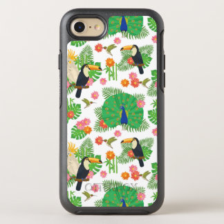 Tucan And Peacock Pattern OtterBox Symmetry iPhone 7 Case
