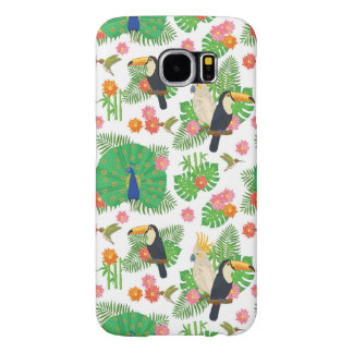 Tucan And Peacock Pattern Samsung Galaxy S6 Cases