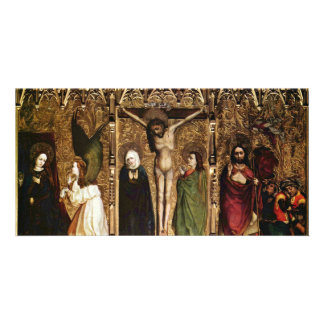 Tuchers Altar Middle Panel Of Scenes The Annuncia Custom Photo Card