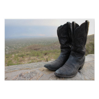 Tucson Arizona Boots Poster
