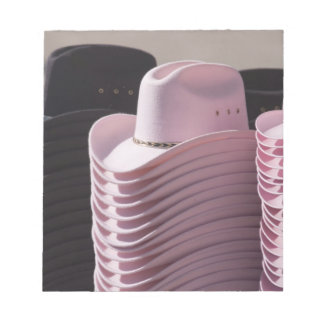 Tucson, Arizona. Cowboy hats for men and women Notepad