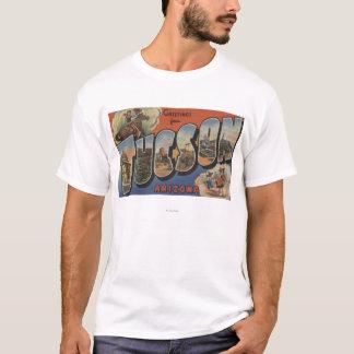 Tucson, Arizona - Large Letter Scenes 2 T-Shirt