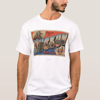 Tucson, Arizona - Large Letter Scenes T-Shirt