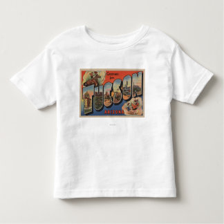 Tucson, Arizona - Large Letter Scenes Toddler T-Shirt