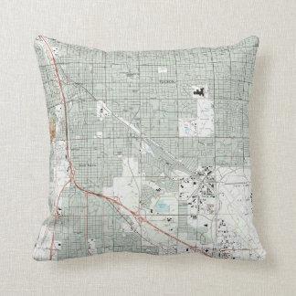 Tucson Arizona Map (1992) Cushion