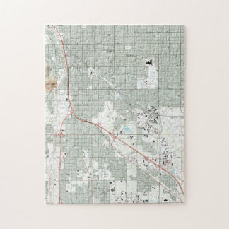 Tucson Arizona Map (1992) Jigsaw Puzzle