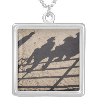 Tucson, Arizona: Shadows of Rodeo competitors Silver Plated Necklace