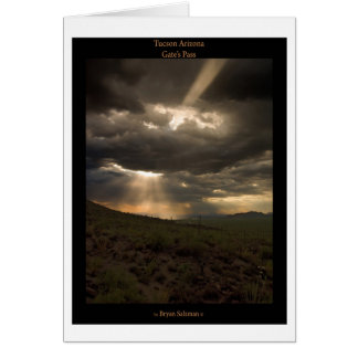 Tucson Arizona Sunset Card