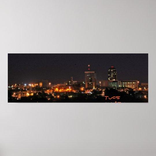 Tucson at Night Poster