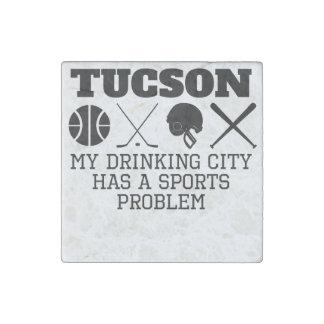 Tucson Drinking City Sports Problem Stone Magnet