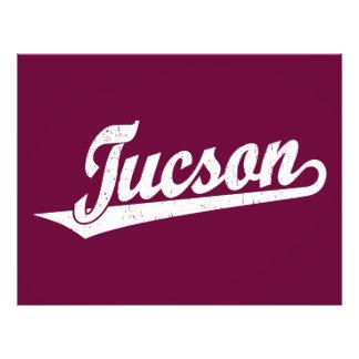Tucson script logo in white distressed 21.5 cm x 28 cm flyer