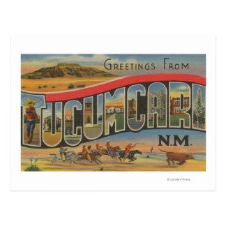 Tucumcari New Mexico - Large Letter Scenes Postcard