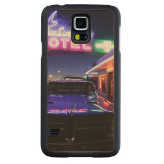 Tucumcari, New Mexico, United States. Route 66 2 Carved Maple Galaxy S5 Case