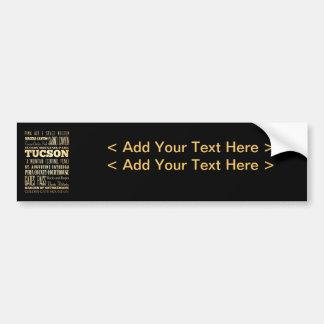 Tuczon City of Arizona State Typography Art Bumper Sticker
