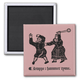 Tudor Hammer Time (magnet) Square Magnet