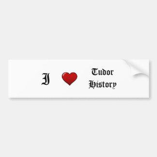 Tudor History Bumper Sticker