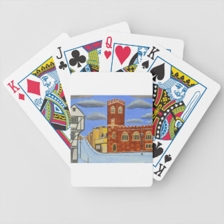 Tudor House in Exeter Bicycle Playing Cards