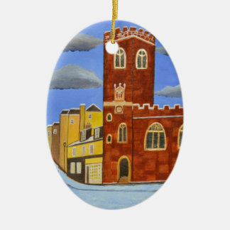 Tudor House in Exeter Christmas Ornament