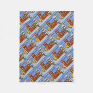 Tudor House in Exeter Fleece Blanket