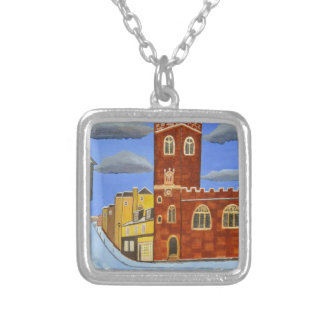 Tudor House in Exeter Silver Plated Necklace