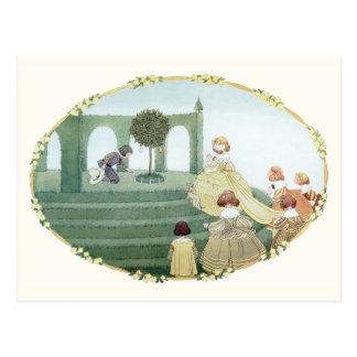 Tudor Princess and Maids by H. Willebeek Le Mair Postcard