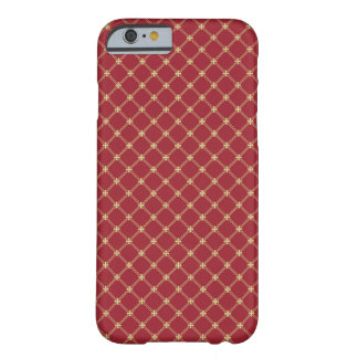 Tudor Red and Gold Criss-Cross Pattern Barely There iPhone 6 Case