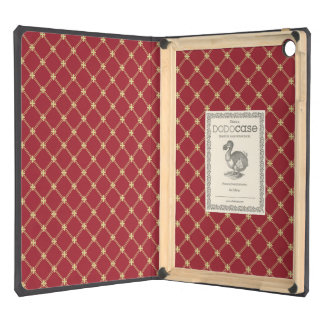 Tudor Red and Gold Criss-Cross Pattern iPad Air Cases