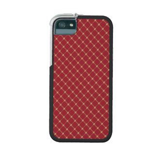 Tudor Red and Gold Criss-Cross Pattern iPhone 5/5S Case